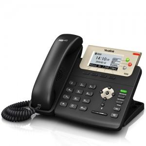 Yealink SIP-T23G Gigabit IP Phone (Dual-Port Ethernet, PoE, Wandmontagefähig, Headset-Anschluss)