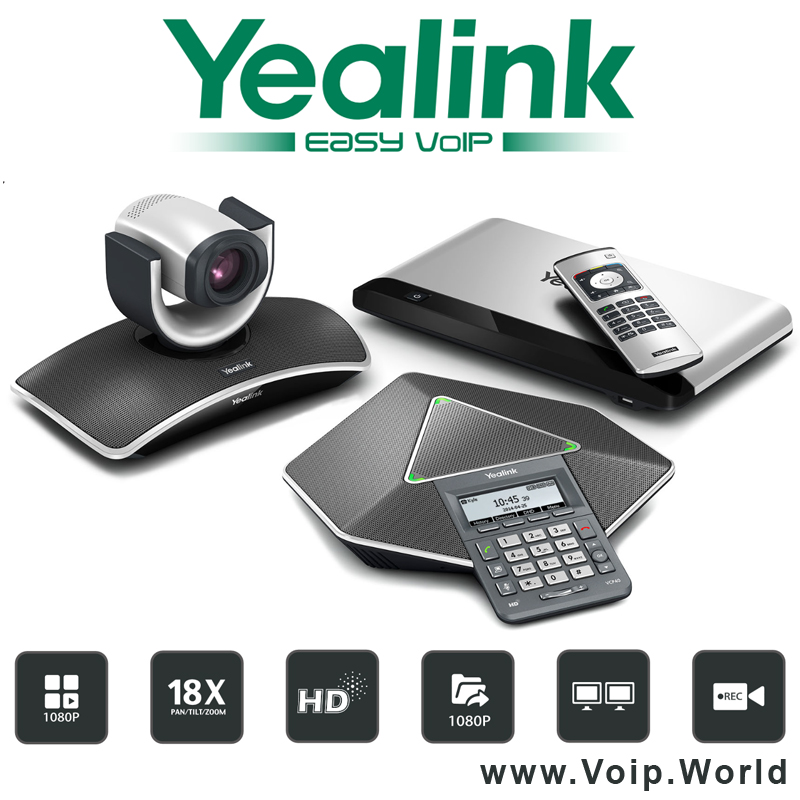 Yealink VC400 Video Conferencing System with 4-site 1080P full-HD multipoint control unit (MCU)